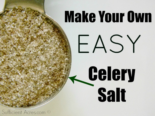 make your own easy celery