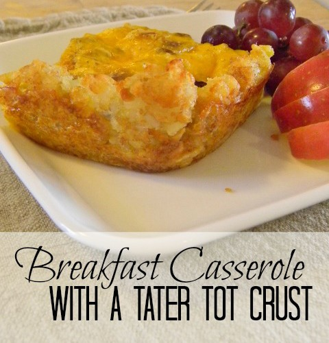 Breakfast Casserole With A Tater Tot Crust