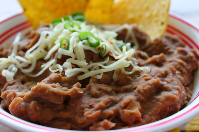 Homemade Refried Beans in the Slow Cooker